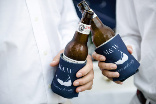 nantucket wedding koozies
