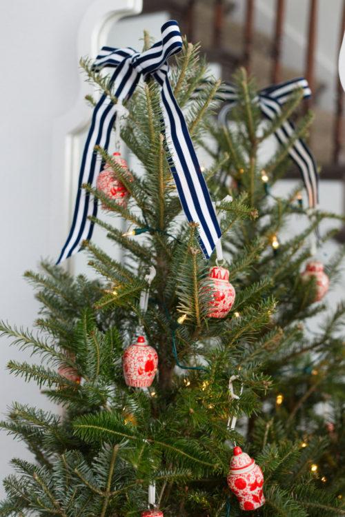 williams-sonoma ginger jar christmas tree ornaments