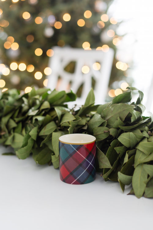 williams-sonoma tartan candle set