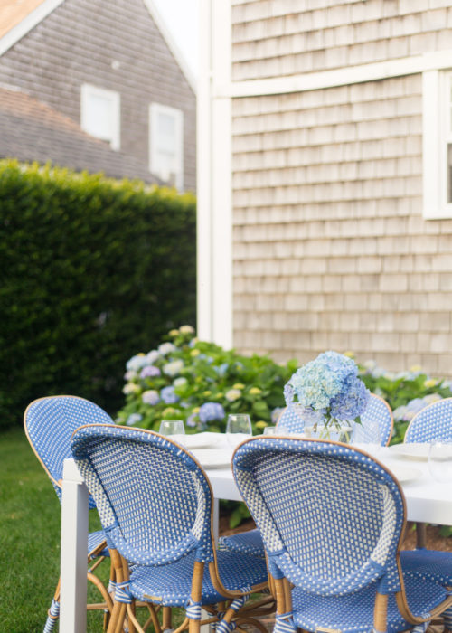 frontgate paris bistro side chairs in capri blue