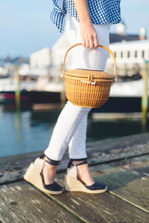 nantucket lightship basket and castaner carina espadrilles