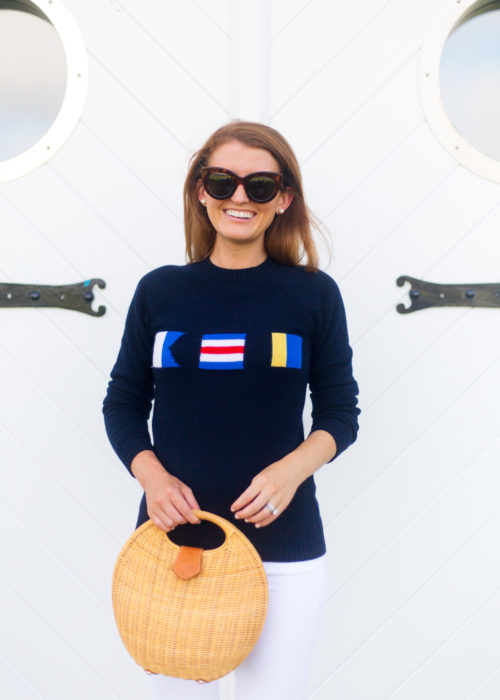 cj laing ack nautical flag sweater