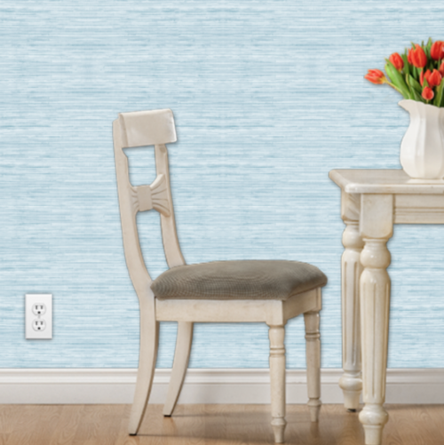 light blue grasscloth peel and stick wallpaper