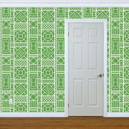 green trellis peel and stick wallpaper