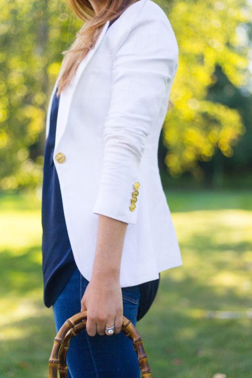 smythe white duchess blazer