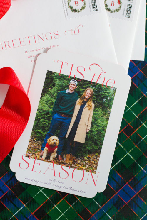 design darling minted christmas cards