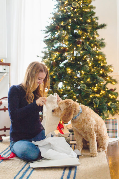 mark & graham cable knit dog sweater