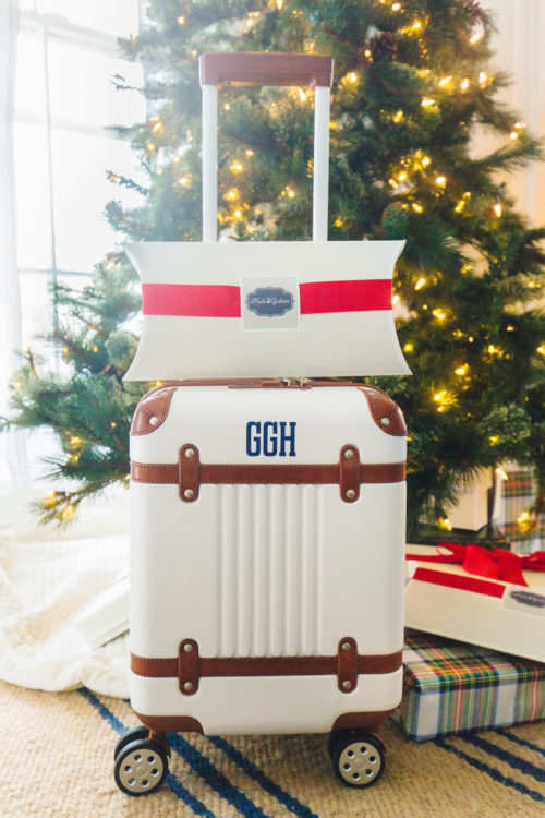 mark & graham terminal 1 carry-on monogrammed suitcase