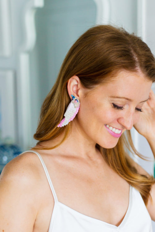mignonne gavigan bird earrings tan on design darling