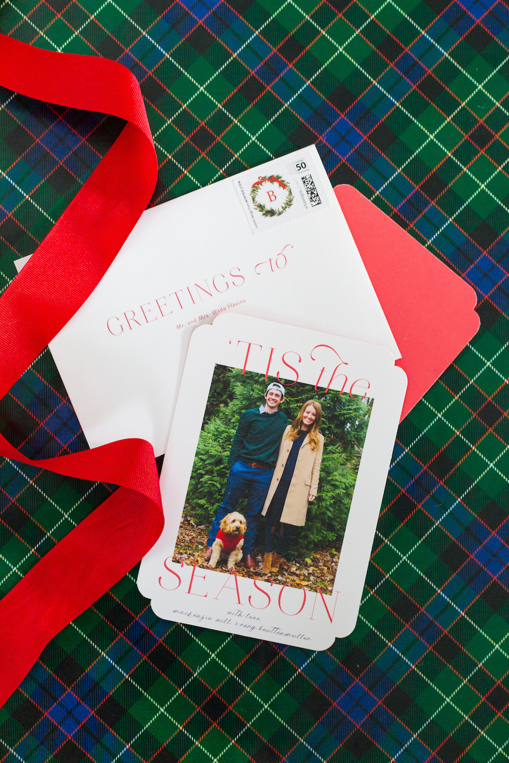 minted 'tis the season cards on design darling