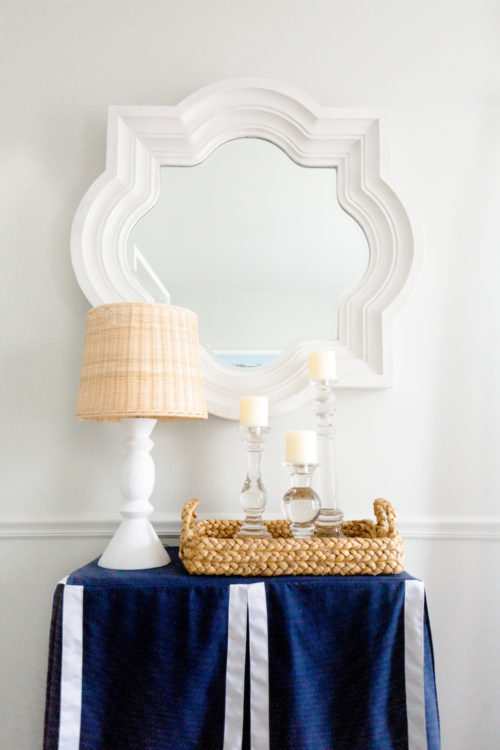 quatrefoil mirror custom table skirt serena & lily small brighton table lamp in design darling dining room