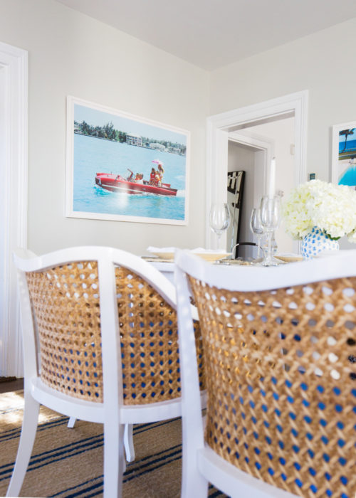 slim aarons sea drive print in dining room