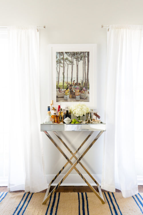 west elm mirrored bar cart in design darling dining room