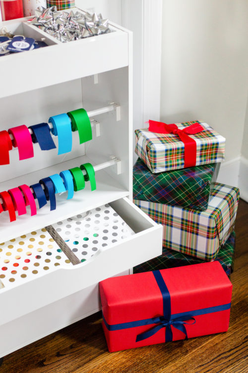 wrapping paper cart on design darling