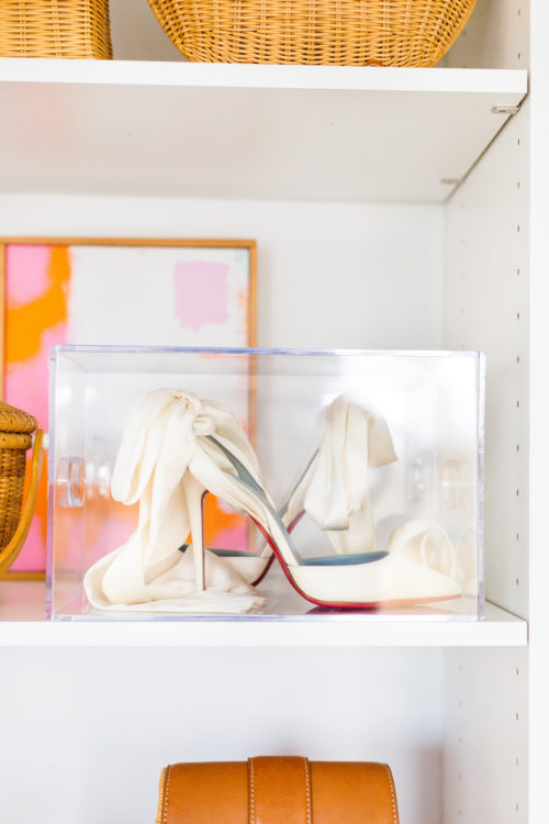 acrylic box for wedding shoe display