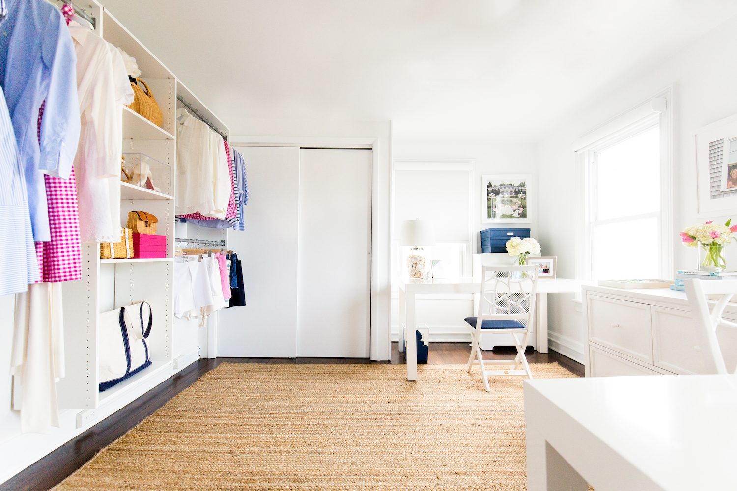 design darling home office with martha stewart living closet system