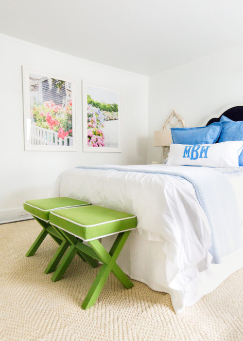 nantucket print shop and target green x benches on design darling