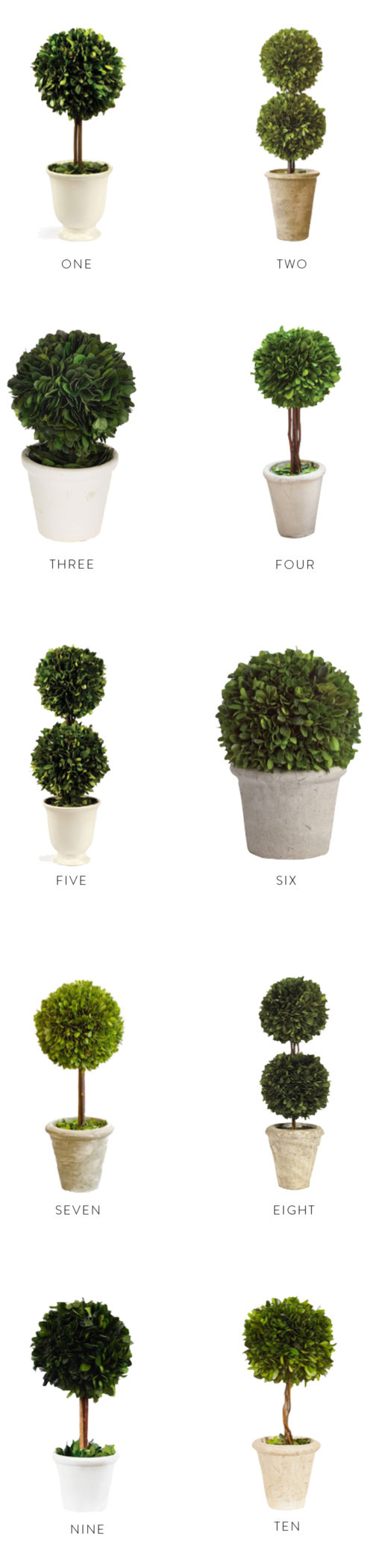 design darling topiaries