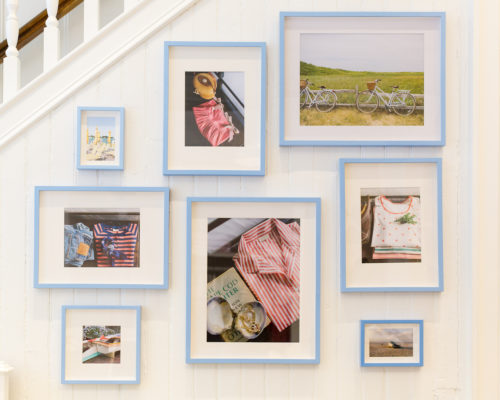 lake pajamas charleston gallery wall