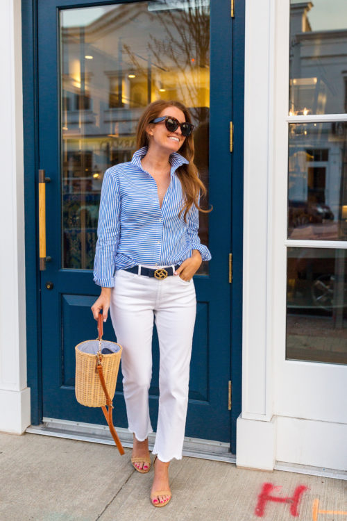j.mclaughlin lois blouse and white dahlia jeans on design darling