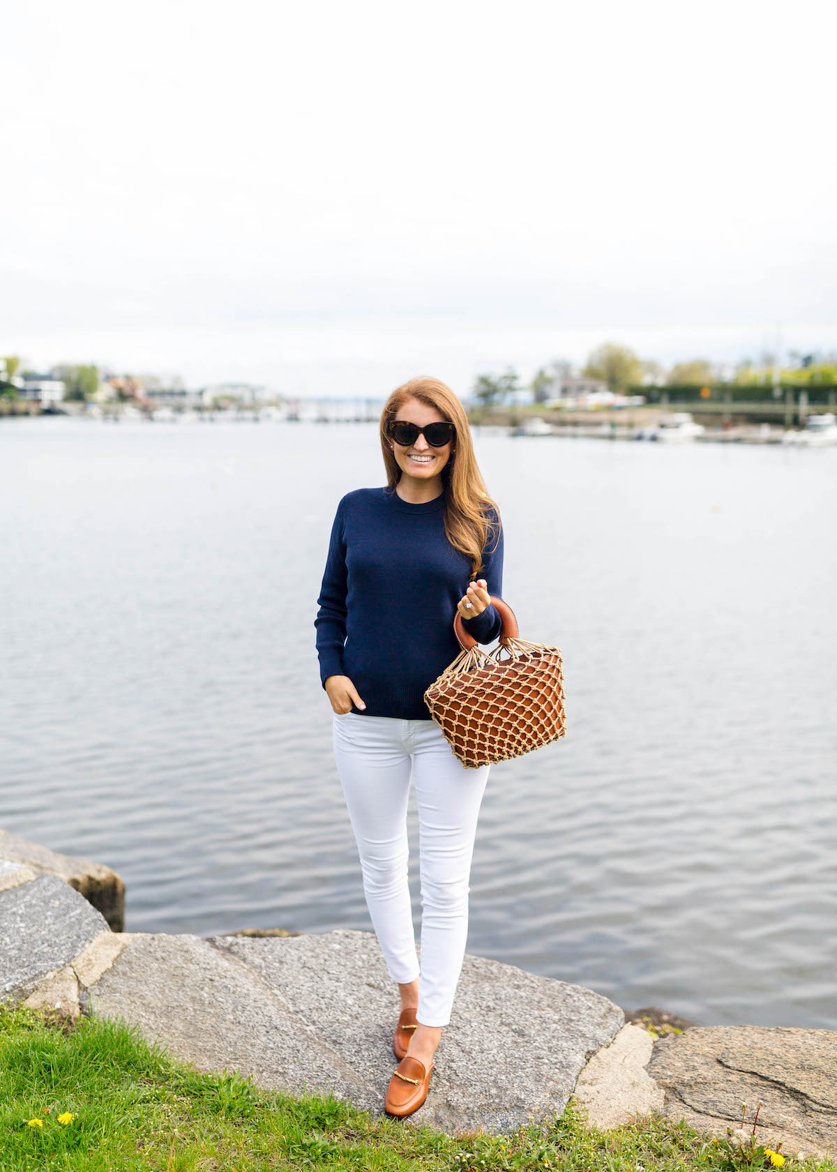 petit bateau blumy sweater staud loni bag and j.mclaughlin natural domina leather mule on design darling