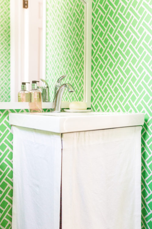 design darling custom sink skirt from etsy