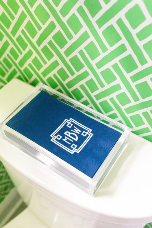 design darling monogrammed napkins