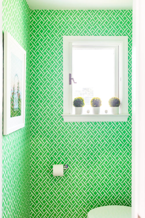Peel And Stick Wallpaper In Our Powder Room Design Darling