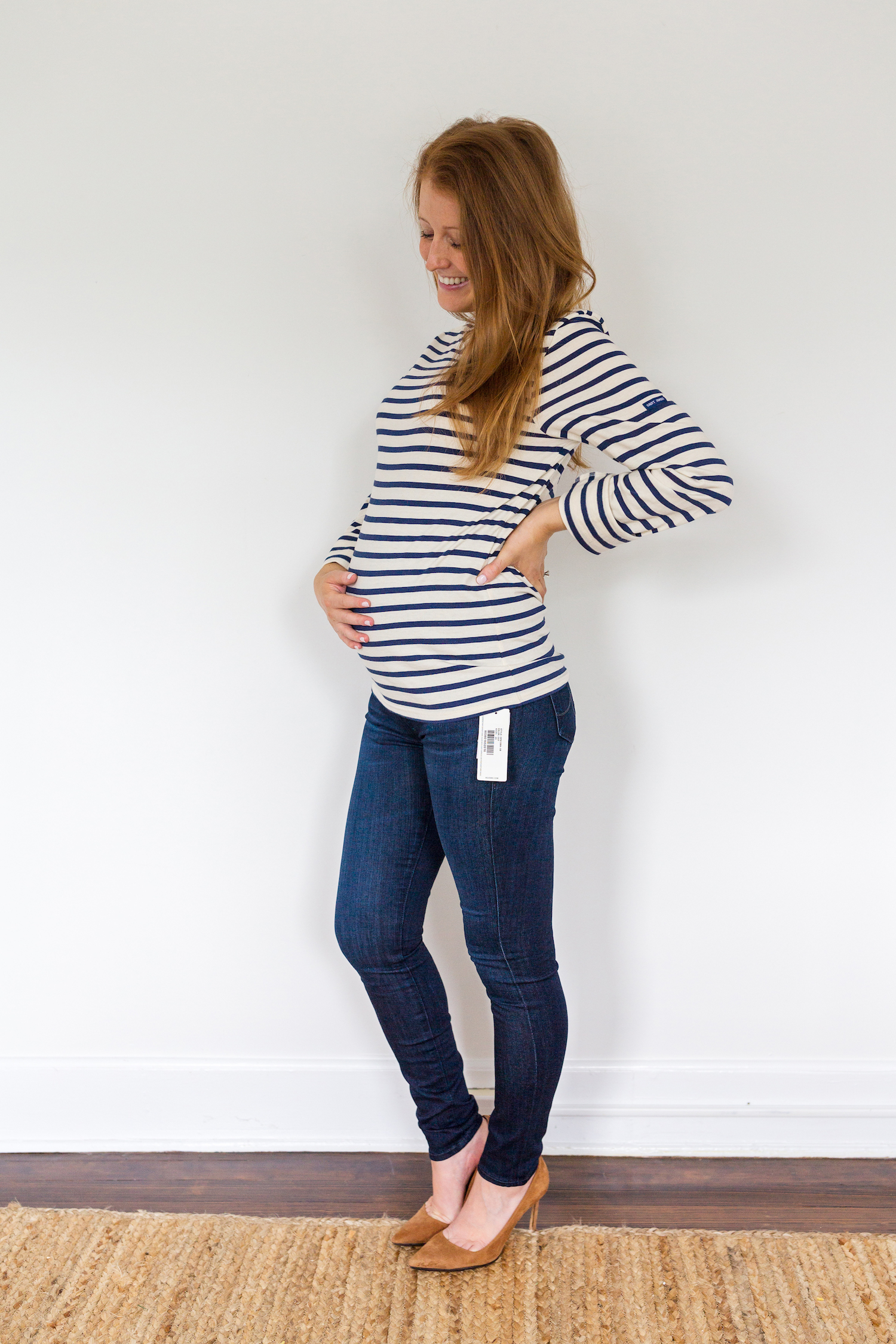 de2c0bc130f3d maternity jeans review AG Jeans secret fit belly legging ankle maternity  jeans in evening star 2