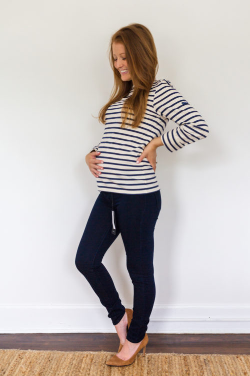 maternity jeans review DL1961 Emma skinny maternity jeans in Flatiron 3