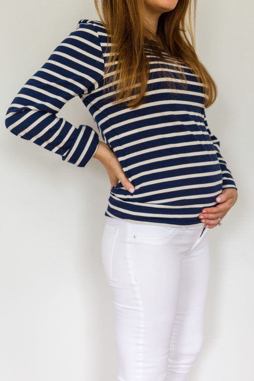 maternity jeans review DL1961 Florence crop maternity jean in porcelain 3