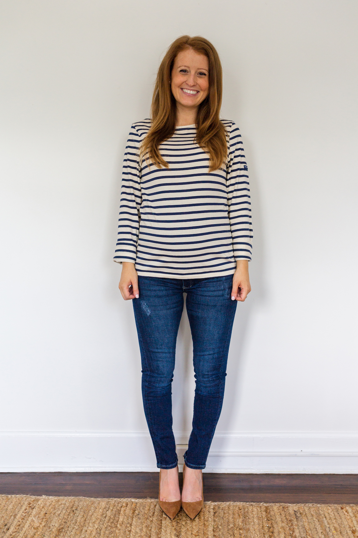 maternity jeans review H&M Mama skinny ankle jeans in dark