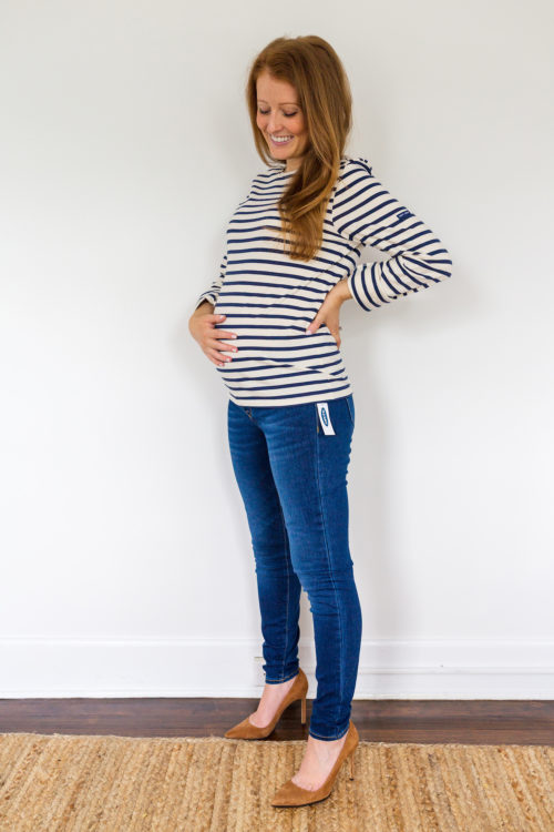 maternity jeans review Old Navy maternity front low- panel rockstar 247 sculpt leggings in Tenerife