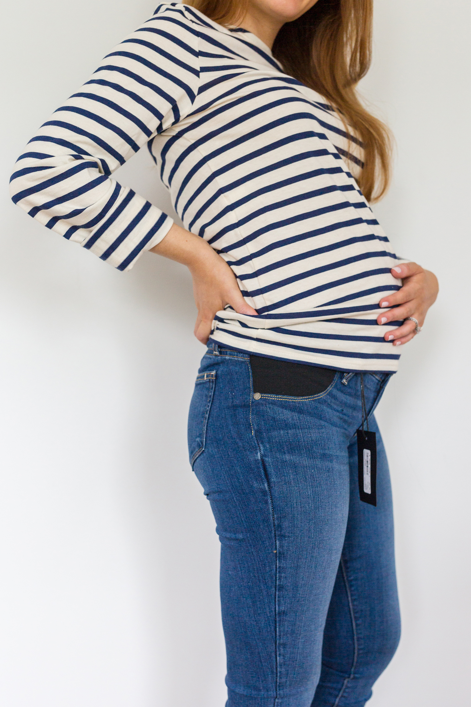 a15dab0ebb758 maternity jeans review Paige Verdugo maternity ankle jeans in Tristan 3