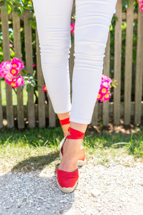 castaner carina espadrilles in red