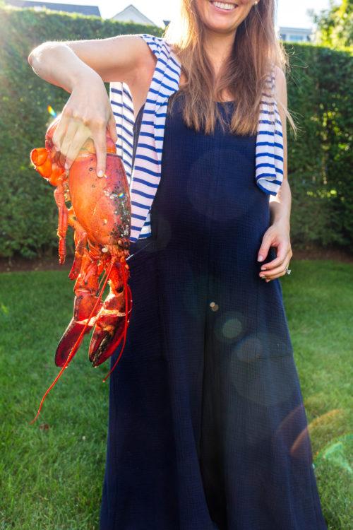design darling lobster dinner Rachel Pally Gauze Hugo Jumpsuit