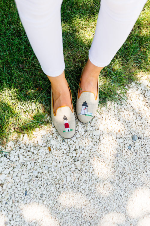 design darling nantucket lighthouse stubbs and wootton slippers