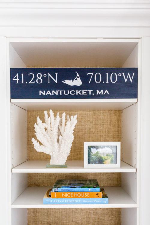 nantucket coordinates sign on design darling