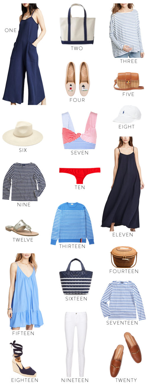 nantucket packing list on design darling