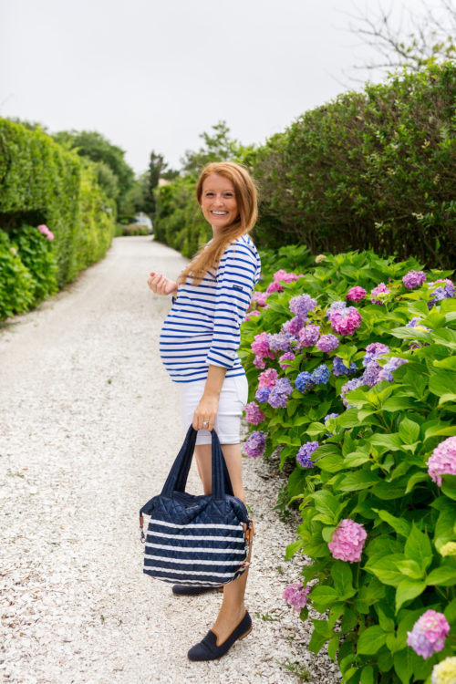 saint james minquiers moderne striped sailor shirt and mz wallace charter stripe sutton bag design darling 31 week bumpdate
