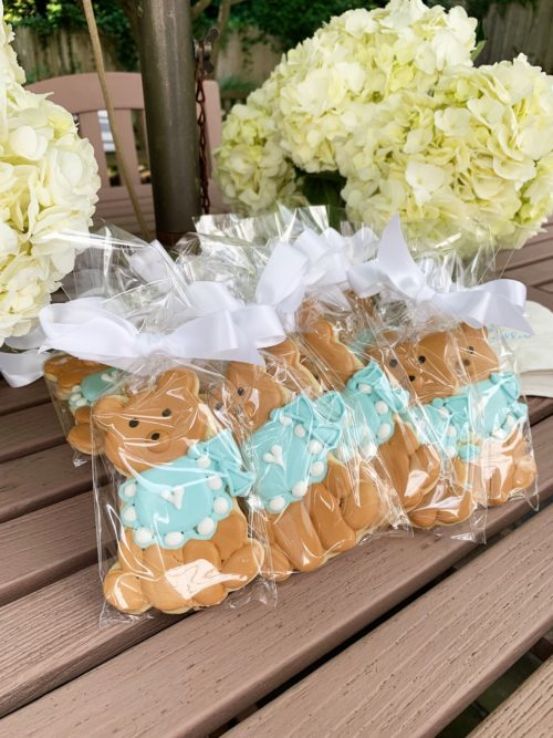 design darling baby shower cookies