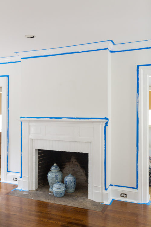 design darling house progress behr ultra pure white paint in living room