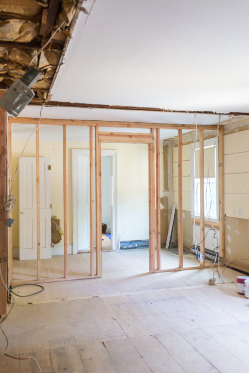 design darling house progress master bedroom framing