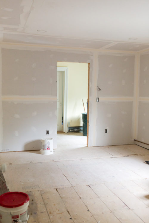 design darling house progress master bedroom new wall