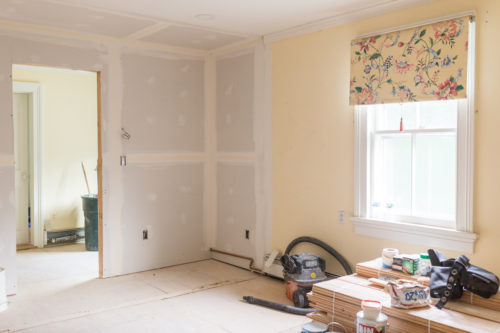 design darling house progress moving wall in master bedroom