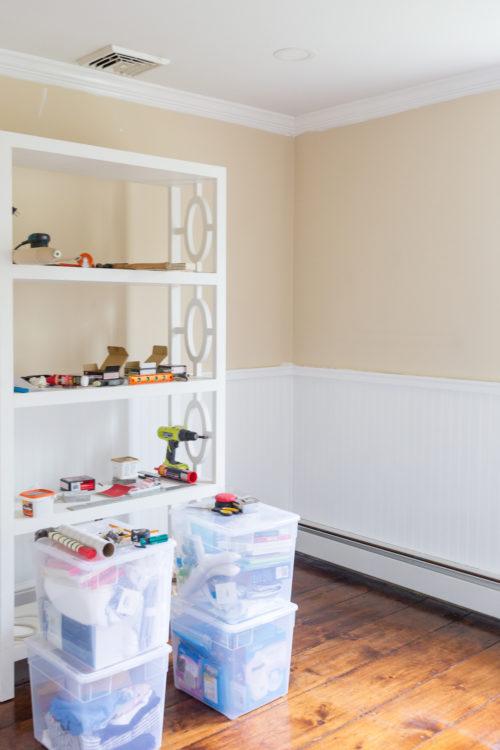 design darling installing beadboard to plaster walls in nursery