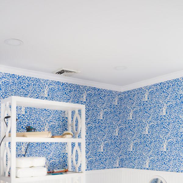 design darling nursery progress quadrille arbre de matisse wallpaper in china blue