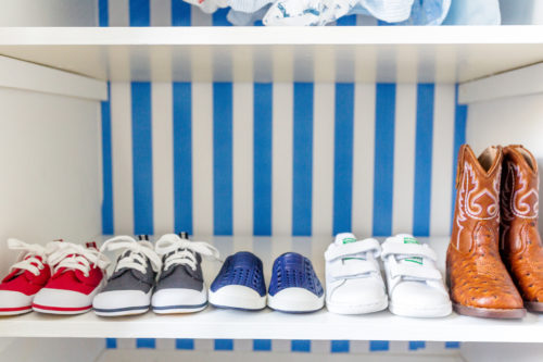 design darling nursery closet shoes