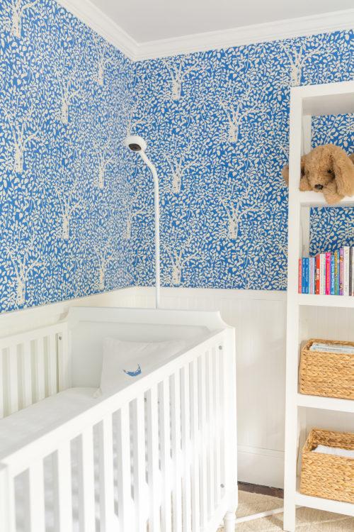 design darling nursery quadrille arbre de matisse reverse wallpaper china blue nanit plus baby monitor