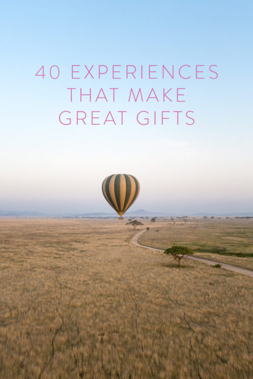 40 experiences that make great gifts
